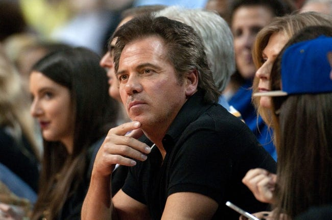 Nov 29, 2013; Auburn Hills, MI, USA; Detroit Pistons owner Tom Gores during the game against the Los Angeles Lakers at The Palace of Auburn Hills. Mandatory Credit: Tim Fuller-USA TODAY Sports