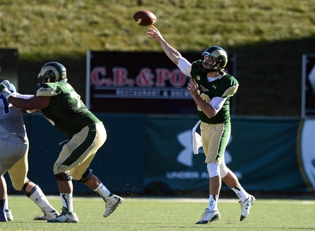 Nov 30, 2013; Fort Collins, CO, USA; Colorado State Rams quarterback Garrett Grayson (18) passes in the second quarter against the Air Force Falcons at Hughes Stadium. Mandatory Credit: Ron Chenoy-USA TODAY Sports