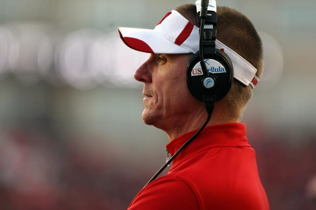 Nov 30, 2013; Madison, WI, USA; Wisconsin Badgers head coach Gary Andersen watches his team as they play the Penn State Nittany Lions at Camp Randall Stadium. Penn State defeated Wisconsin 31-24. Mandatory Credit: Mary Langenfeld-USA TODAY Sports