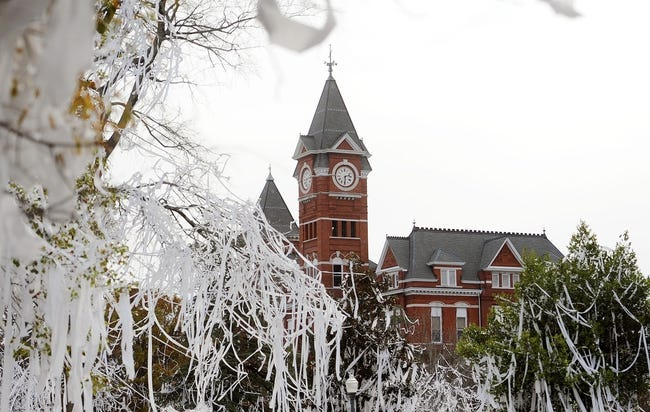 Dec 1, 2013; Auburn, AL, USA; View of Samford Hall on Auburn University's campus the day after the game between the Auburn Tigers and the Alabama Crimson Tide at Jordan Hare Stadium. The Tigers defeated the Crimson Tide 34-28.  Mandatory Credit: Shanna Lockwood-USA TODAY Sports