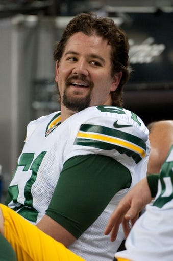 Nov 28, 2013; Detroit, MI, USA; Green Bay Packers long snapper Brett Goode (61) before the game against the Detroit Lions during a NFL football game on Thanksgiving at Ford Field. Mandatory Credit: Tim Fuller-USA TODAY Sports