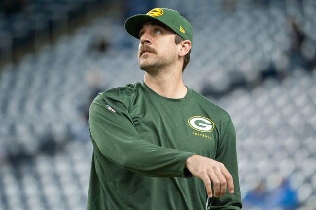 Nov 28, 2013; Detroit, MI, USA; Green Bay Packers quarterback Aaron Rodgers (12) before the game against the Detroit Lions during a NFL football game on Thanksgiving at Ford Field. Mandatory Credit: Tim Fuller-USA TODAY Sports