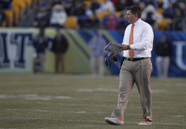 Nov 29, 2013; Pittsburgh, PA, USA; Miami Hurricanes head coach Al Golden on the field against the Pittsburgh Panthers during the second quarter at Heinz Field. Miami won 41-31. Mandatory Credit: Charles LeClaire-USA TODAY Sports