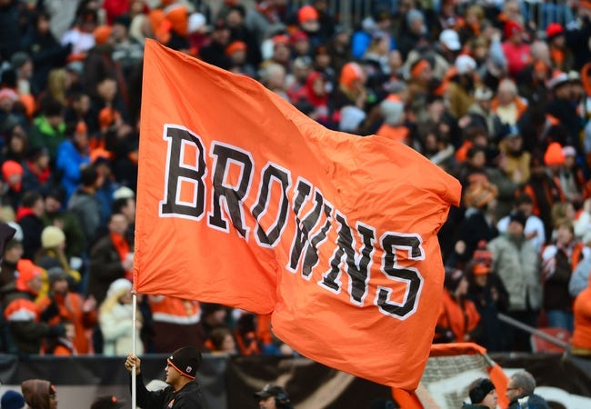 Dec 1, 2013; Cleveland, OH, USA; Cleveland Browns flag against the Jacksonville Jaguars at FirstEnergy Stadium. Mandatory Credit: Andrew Weber-USA TODAY Sports