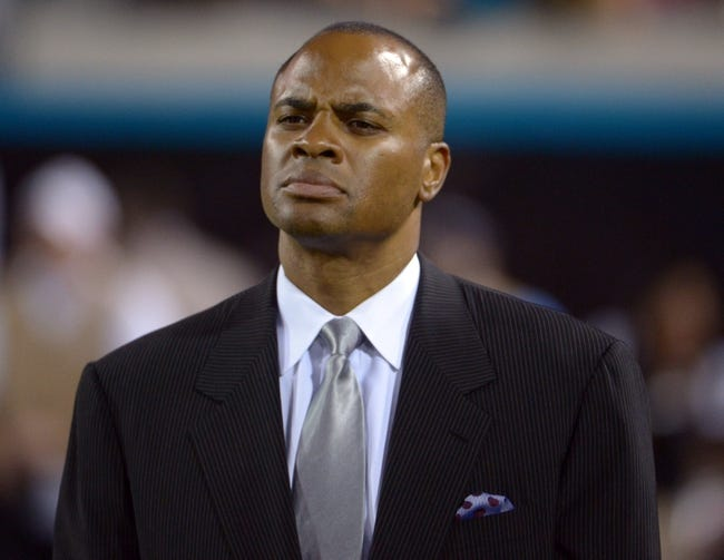 Dec 5, 2013; Jacksonville, FL, USA; Houston Texans general manager Rick Smith during the game against the Jacksonville Jaguars at EverBank Field. The Jaguars defeated the Texans 27-20.  Mandatory Credit: Kirby Lee-USA TODAY Sports