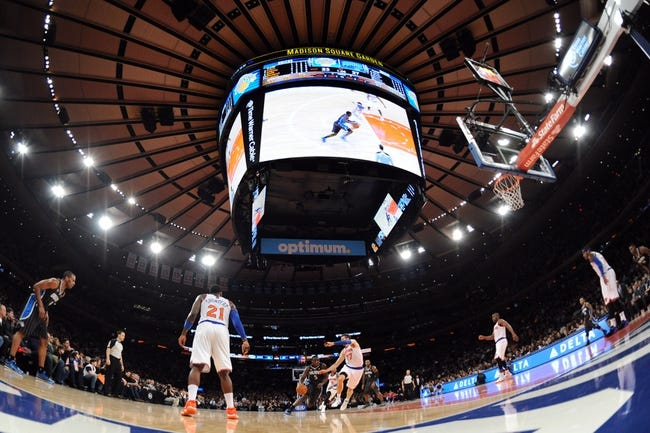 Dec 6, 2013; New York, NY, USA; Orlando Magic shooting guard Victor Oladipo (5) drives the lane against the New York Knicks during the first half at Madison Square Garden. The Knicks won the game 121-83. Mandatory Credit: Joe Camporeale-USA TODAY Sports