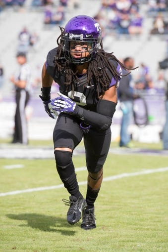 Nov 30, 2013; Fort Worth, TX, USA; TCU Horned Frogs cornerback Jason Verrett (2) warms up before the game against the Baylor Bears at Amon G. Carter Stadium. The Bears defeated the Horned Frogs 41-38. Mandatory Credit: Jerome Miron-USA TODAY Sports