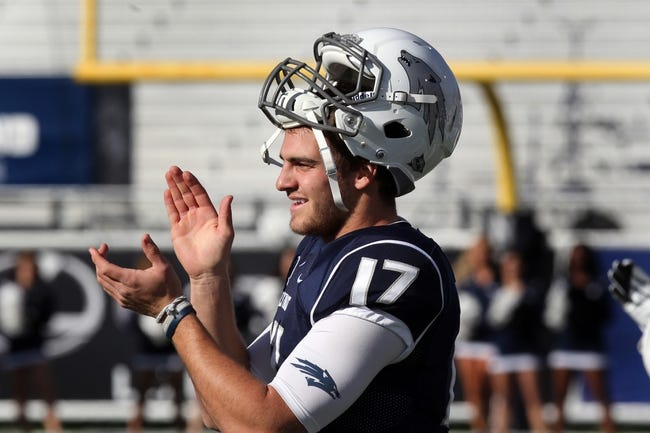 Nov 30, 2013; Reno, NV, USA; Nevada Wolf Pack quarterback Cody Fajardo (17) cheers on his teammates prior to their NCAA football game against the BYU Cougars at MacKay Stadium. Mandatory Credit: Lance Iversen/USA TODAY Sports. BYU won 28-23.