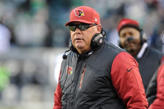 Dec 1, 2013; Philadelphia, PA, USA; Arizona Cardinals head coach Bruce Arians during the fourth quarter of the game against the Philadelphia Eagles at Lincoln Financial Field. The Philadelphia Eagles won the game 24-21.  Mandatory Credit: John Geliebter-USA TODAY Sports