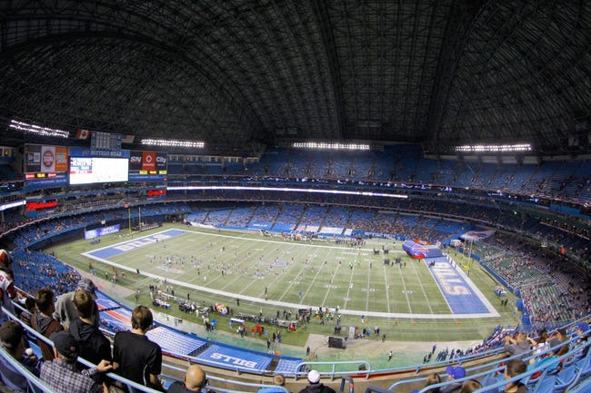 Dec 1, 2013; Toronto, ON, Canada; A general view of the Rogers Center before a game between the Buffalo Bills and the Atlanta Falcons. Mandatory Credit: Timothy T. Ludwig-USA TODAY Sports