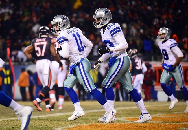 Dec 9, 2013; Chicago, IL, USA; Dallas Cowboys wide receiver Cole Beasley (11) celebrates with teammates after scoring a touchdown during the fourth quarter against the Chicago Bears at Soldier Field. Mandatory Credit: Andrew Weber-USA TODAY Sports