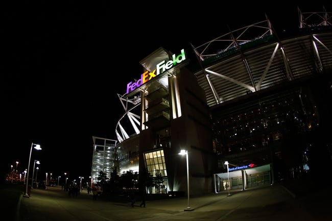 Nov 25, 2013; Landover, MD, USA; A general view outside FedEx Field prior to the game between the Washington Redskins and the San Francisco 49ers. Mandatory Credit: Geoff Burke-USA TODAY Sports