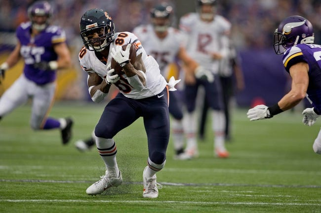 Dec 1, 2013; Minneapolis, MN, USA; Chicago Bears wide receiver Earl Bennett (80) catches a pass for 15 yards against the Minnesota Vikings in the first quarter at Mall of America Field at H.H.H. Metrodome. Vikings win 23-20 in overtime. Mandatory Credit: Bruce Kluckhohn-USA TODAY Sports