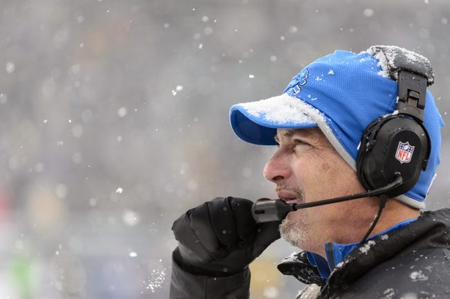 Dec 8, 2013; Philadelphia, PA, USA; Detroit Lions head coach Jim Schwartz along the sidelines during the third quarter against the Philadelphia Eagles at Lincoln Financial Field. The Eagles defeated the Lions 34-20. Mandatory Credit: Howard Smith-USA TODAY Sports