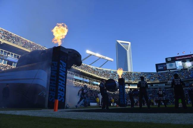 Dec 15, 2013; Charlotte, NC, USA; Carolina Panthers middle linebacker Luke Kuechly (59) is introduced before the game at Bank of America Stadium. Mandatory Credit: Bob Donnan-USA TODAY Sports