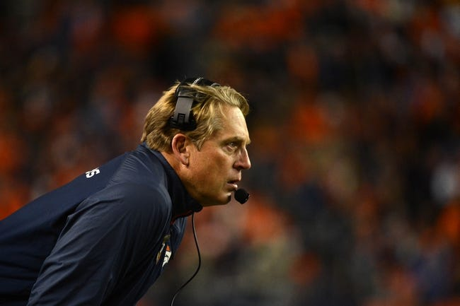 November 17, 2013; Denver, CO, USA; Denver Broncos interim head coach Jack Del Rio looks on during the third quarter against the Kansas City Chiefs at Sports Authority Field at Mile High. The Broncos defeated the Chiefs 27-17. Mandatory Credit: Kyle Terada-USA TODAY Sports