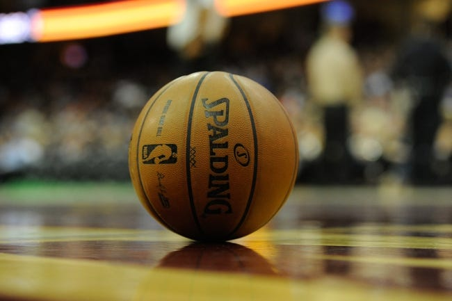 Dec 10, 2013; Cleveland, OH, USA; A general view of an NBA game ball during a game between the Cleveland Cavaliers and the New York Knicks at Quicken Loans Arena. Cleveland won 109-94. Mandatory Credit: David Richard-USA TODAY Sports