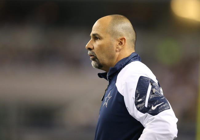 Dec 15, 2013; Arlington, TX, USA; Dallas Cowboys special teams coordinator Rich Bisaccia on the sidelines against the Green Bay Packers at AT&T Stadium. Mandatory Credit: Matthew Emmons-USA TODAY Sports