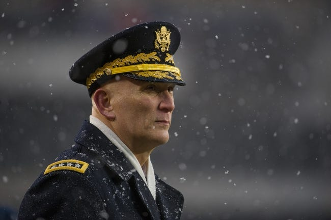 Dec 14, 2013; Philadelphia, PA, USA; U.S. Army chief of staff Raymond T. Odierno on the sidelines during  the 114th Army-Navy game at Lincoln Financial Field. Navy Midshipmen defeated Army Black Knights 34-7. Mandatory Credit: Tommy Gilligan-USA TODAY Sports