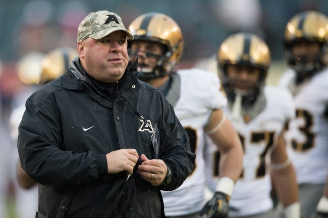 Dec 14, 2013; Philadelphia, PA, USA; Army Black Knights  assoc. head coach/offensive coordinator Ian Shield during pre-game the 114th Army-Navy game at Lincoln Financial Field. Navy Midshipmen defeated Army Black Knights 34-7. Mandatory Credit: Tommy Gilligan-USA TODAY Sports
