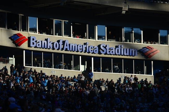 Dec 15, 2013; Charlotte, NC, USA; A view of the stands in the first quarter at Bank of America Stadium. Mandatory Credit: Bob Donnan-USA TODAY Sports