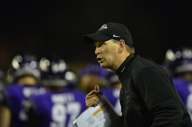 Dec 20, 2013; Salem, VA, USA; UW-Whitewater head coach Lance Leipold reacts on the sidelines in the first quarter at Salem Stadium. Mandatory Credit: Bob Donnan-USA TODAY Sports