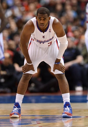 Dec 21, 2013; Los Angeles, CA, USA;  Los Angeles Clippers point guard Chris Paul (3) in the second half of the game against the Denver Nuggets at Staples Center. The Clippers won 112-91. Mandatory Credit: Jayne Kamin-Oncea-USA TODAY Sports