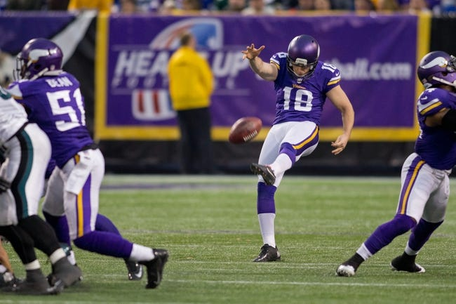 Dec 15, 2013; Minneapolis, MN, USA; Philadelphia Eagles wide receiver Jeremy Maclin (18) punts to the Philadelphia Eagles in the fourth quarter at Mall of America Field at H.H.H. Metrodome. The Vikings win 48-30. Mandatory Credit: Bruce Kluckhohn-USA TODAY Sports