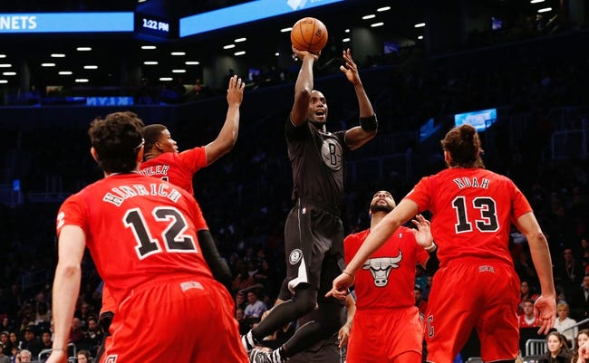 Dec 25, 2013; Brooklyn, NY, USA;   Brooklyn Nets power forward Kevin Garnett (2) shoots during the third quarter against the Chicago Bulls at Barclays Center. Chicago Bulls won 95-78.  Mandatory Credit: Anthony Gruppuso-USA TODAY Sports