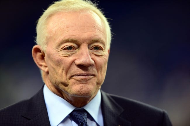 Oct 27, 2013; Detroit, MI, USA; Dallas Cowboys owner Jerry Jones before the game against the Detroit Lions at Ford Field. Mandatory Credit: Andrew Weber-USA TODAY Sports