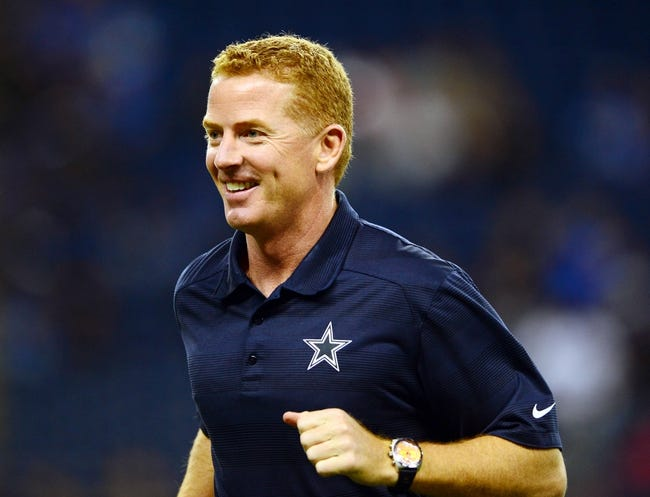 Oct 27, 2013; Detroit, MI, USA; Dallas Cowboys head coach Jason Garrett before the game against the Detroit Lions at Ford Field. Mandatory Credit: Andrew Weber-USA TODAY Sports
