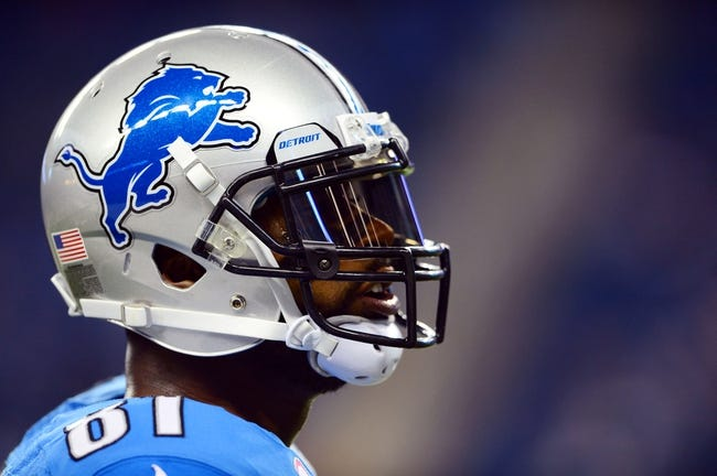 Oct 20, 2013; Detroit, MI, USA; Detroit Lions wide receiver Calvin Johnson (81) during the game against the Cincinnati Bengals at Ford Field. Mandatory Credit: Andrew Weber-USA TODAY Sports