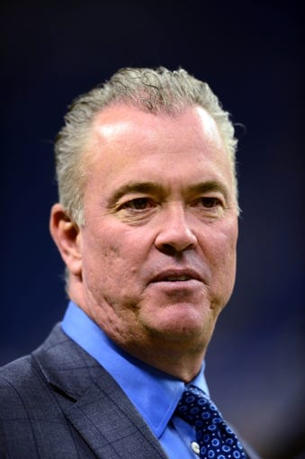 Oct 27, 2013; Detroit, MI, USA; Dallas Cowboys chief operating officer Stephen Jones  before the game against the Detroit Lions at Ford Field. Mandatory Credit: Andrew Weber-USA TODAY Sports