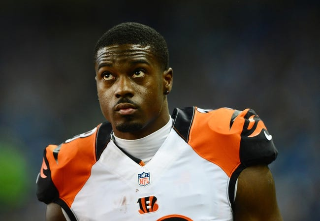 Oct 20, 2013; Detroit, MI, USA; Cincinnati Bengals wide receiver A.J. Green (18) during the game against the Detroit Lions at Ford Field. Mandatory Credit: Andrew Weber-USA TODAY Sports