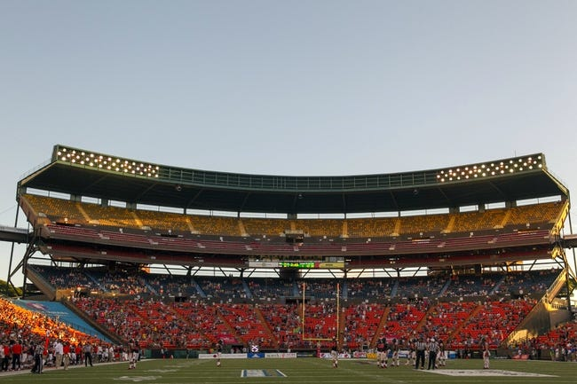 Dec 24, 2013; Honolulu, HI, USA; Aloha Stadium is seen during the 2013 Hawaii Bowl between the Oregon State Beavers and the Boise State Broncos.  Mandatory Credit: Marco Garcia-USA TODAY Sports