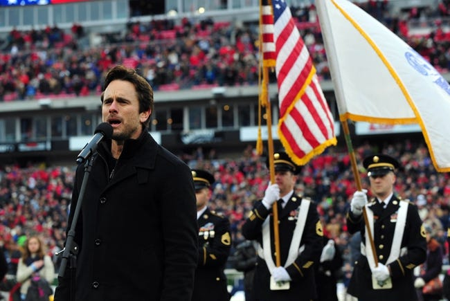 Dec 30, 2013; Nashville, TN, USA; Television personality Charles Esten sings The National Anthem before a game between the Mississippi Rebels and the Georgia Tech Yellow Jackets at LP Field. The Rebels beat the Yellow Jackets 25-17. Mandatory Credit: Don McPeak-USA TODAY Sports