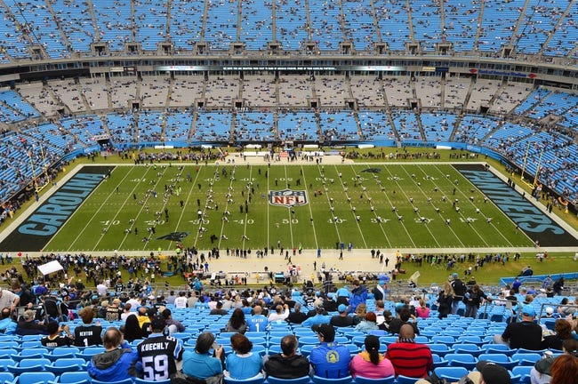 Dec 22, 2013; Charlotte, NC, USA; Carolina Panthers and the New Orleans Saints before the game at Bank of America Stadium. Mandatory Credit: Bob Donnan-USA TODAY Sports