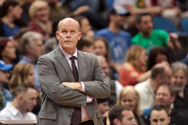 Jan 10, 2014; Minneapolis, MN, USA; Charlotte Bobcats head coach Steve Clifford in the fourth quarter against the Minnesota Timberwolves at Target Center. Minnesota wins 119-92. Mandatory Credit: Brad Rempel-USA TODAY Sports