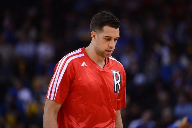 December 3, 2013; Oakland, CA, USA; Toronto Raptors small forward Landry Fields (2) walks to the bench during the third quarter against the Golden State Warriors at Oracle Arena. The Warriors defeated the Raptors 112-103. Mandatory Credit: Kyle Terada-USA TODAY Sports