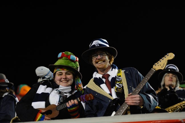 Dec 31, 2013; Memphis, TN, USA; Rice Owls band members during the game against the Mississippi State Bulldogs at Liberty Bowl Memorial Stadium. Mississippi State Bulldogs beat Rice Owls 44 - 7. Mandatory Credit: Justin Ford-USA TODAY Sports