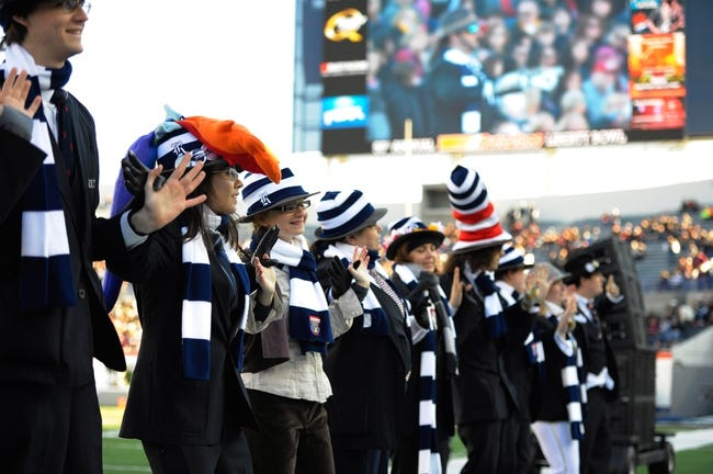 Dec 31, 2013; Memphis, TN, USA; Rice Owls band before the game against the Mississippi State Bulldogs at Liberty Bowl Memorial Stadium. Mississippi State Bulldogs beat Rice Owls 44 - 7. Mandatory Credit: Justin Ford-USA TODAY Sports