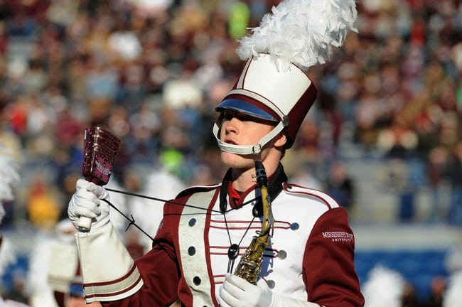 Dec 31, 2013; Memphis, TN, USA; Mississippi State Bulldogs band before the game against the Rice Owls at Liberty Bowl Memorial Stadium. Mississippi State Bulldogs beat Rice Owls 44 - 7. Mandatory Credit: Justin Ford-USA TODAY Sports