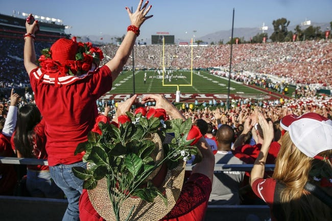 Jan 1, 2014; Pasadena, CA, USA; General view of the 100th Rose Bowl between the Stanford Cardinal and the Michigan State Spartans. Mandatory Credit: Kirby Lee-USA TODAY Sports