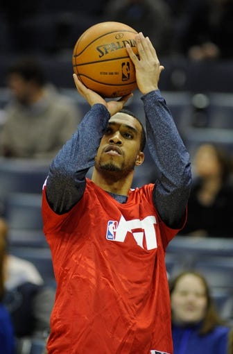 Jan 7, 2014; Memphis, TN, USA; Memphis Grizzlies player Courtney Lee before the game against the San Antonio Spurs at FedExForum. the San Antonio Spurs beat the Memphis Grizzlies 110 - 108 Mandatory Credit: Justin Ford-USA TODAY Sports