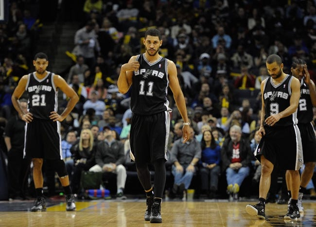 Jan 7, 2014; Memphis, TN, USA; San Antonio Spurs power forward Jeff Ayres (11) during the game against the Memphis Grizzlies at FedExForum. the San Antonio Spurs beat the Memphis Grizzlies 110 - 108 Mandatory Credit: Justin Ford-USA TODAY Sports