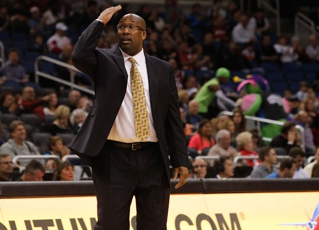 Dec 13, 2013; Orlando, FL, USA; Cleveland Cavaliers head coach Mike Brown reacts as he looks up against the Orlando Magic during the first quarter at Amway Center. Mandatory Credit: Kim Klement-USA TODAY Sports