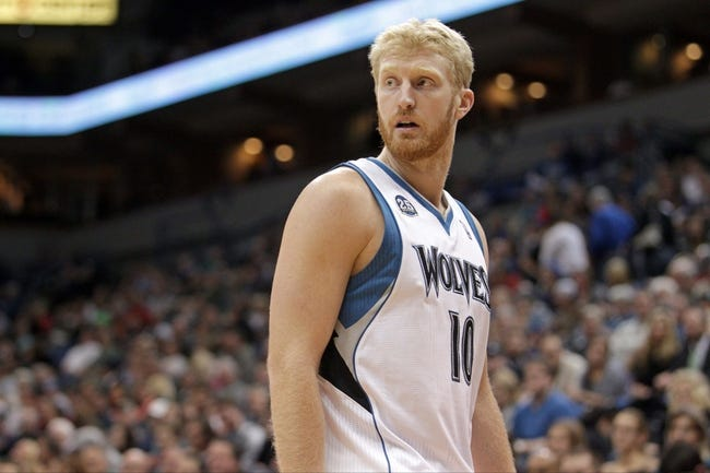 Jan 8, 2014; Minneapolis, MN, USA; Minnesota Timberwolves forward Chase Budinger (10) against the Phoenix Suns at Target Center. The Suns defeated the Timberwolves 104-103. Mandatory Credit: Brace Hemmelgarn-USA TODAY Sports