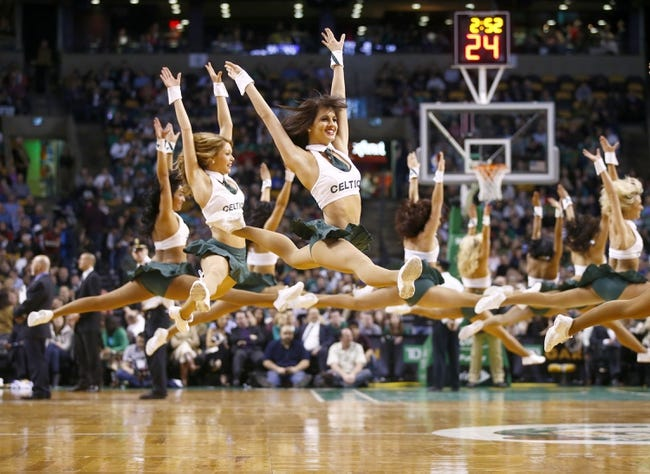 Jan 17, 2014; Boston, MA, USA; The Boston Celtics cheerleaders perform during a break in the action against the Los Angeles Lakers in the second half at TD Garden. Lakers won107-104. Mandatory Credit: David Butler II-USA TODAY Sports