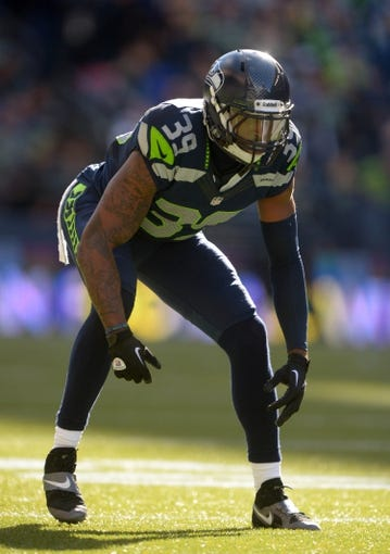 Sep 22, 2013; Seattle, WA, USA; Seattle Seahawks cornerback Brandon Browner (39) during the game against the Jacksonville Jaguars at CenturyLink Field. The Seahawks defeated the Jaguars 45-17. Mandatory Credit: Kirby Lee-USA TODAY Sports
