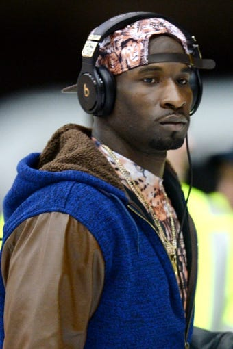 Jan 26, 2014; Newark, NJ, USA; Seattle Seahawks wide receiver Ricardo Lockette arrives at Newark Liberty International Airport to face the Denver Broncos in Super Bowl XLVIII. Mandatory Credit: Joe Camporeale-USA TODAY Sports